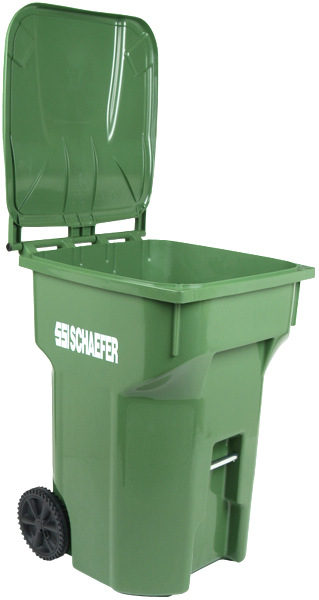A prototype trash containers made by the supplier. (Schaefer Systems International)