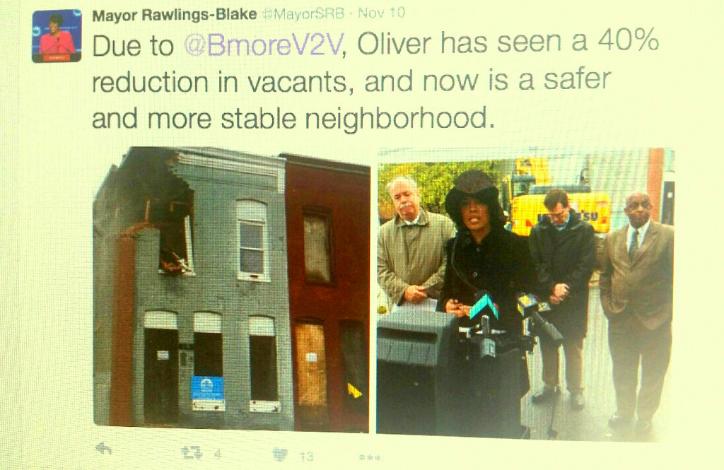Last week, the mayor offered this twitter assessment of the V2V program in Oliver.
