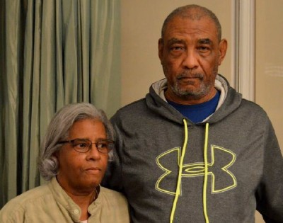 Brenda and George Johnson, of Northwest Baltimore, suffered two sewage floods in their basement in 2010 and 2011. The city denied responsibility for the damage. (Photo credit: Environmental Integrity Project)