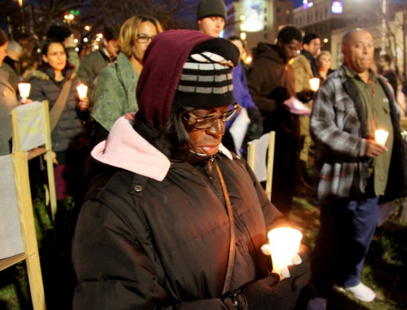 Portia Hilton said she has seen more and more people sleeping on the streets in Baltimore. (Photo by Fern Shen)