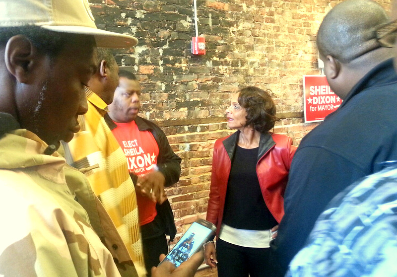 Dixon speaks to supporters at the opening of her campaign headquarters last October. (Photo by Ed Gunts)