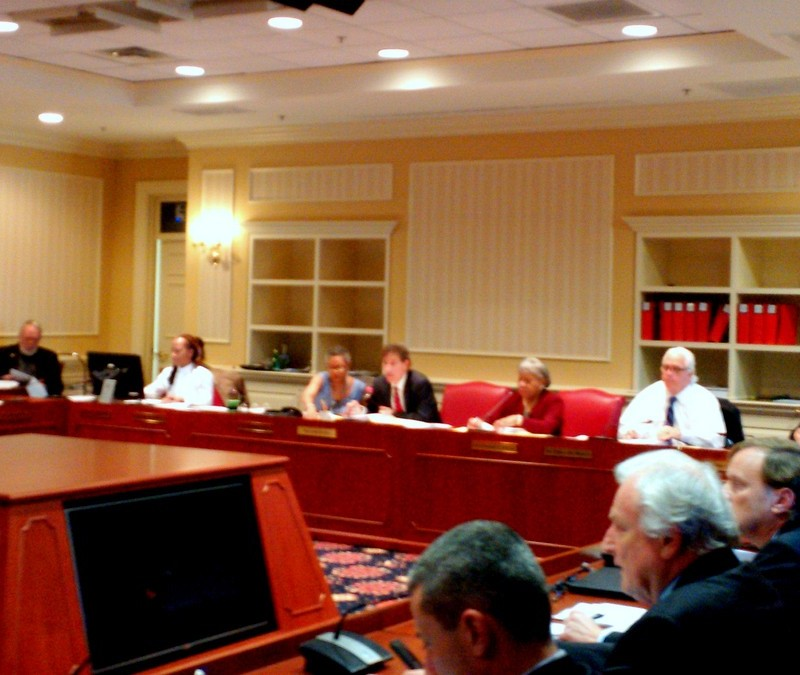 Senate President Thomas V. Mike Miller, right in white shirt, remarked tha the appointees are