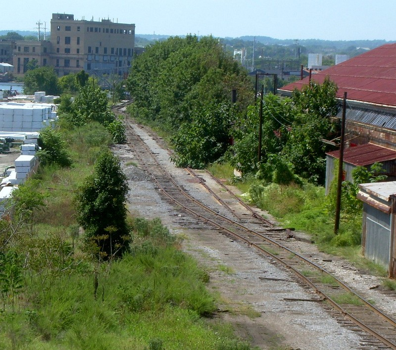 The old Western Maryland rail line through Port Covington could serve as an excellent light-rail spur. (Gerald Neily)
