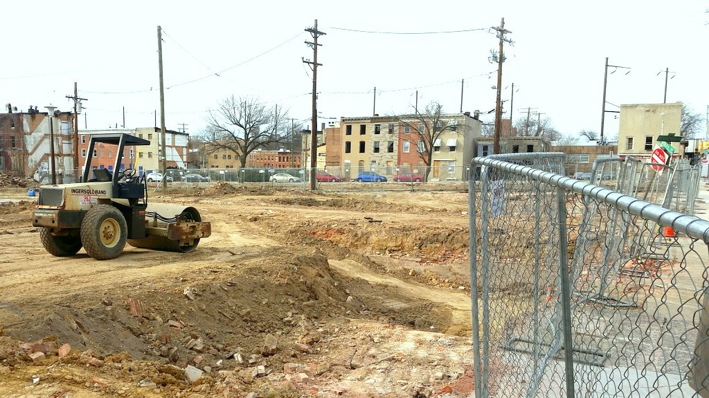 Wolfe and Biddle streets have been cleared of buildings in preparation for the new park. (Mark Reutter)