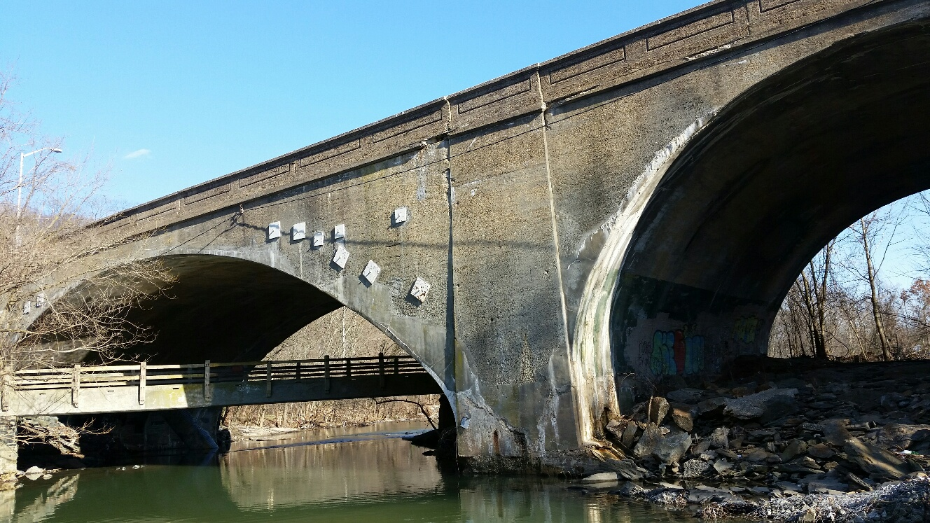 Replacement of the Harford Road Bridge over Herring Run is one of victims of the diversion of federal highway funds to the Central Avenue Bridge. (Mark Reutter)