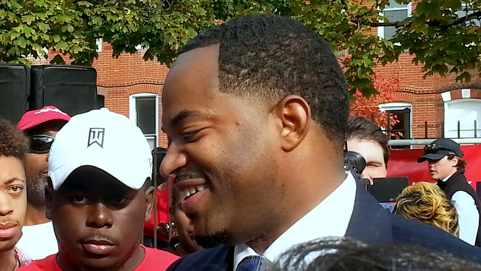Coucnilman Nick Mosby at his mayoral campaign kickoff event in October. (Photo by Ed Gunts)