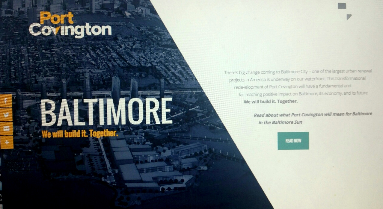 The tagline for Port Covington's social media campaign for TIF public subsidies is: