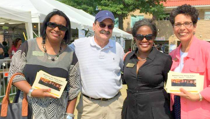 Judges Wanda Heard, Cynthia Jones and Audrey Carriom, with retired Judge John Themelis at the St. Nicholas Greek Festival. (Facebook)