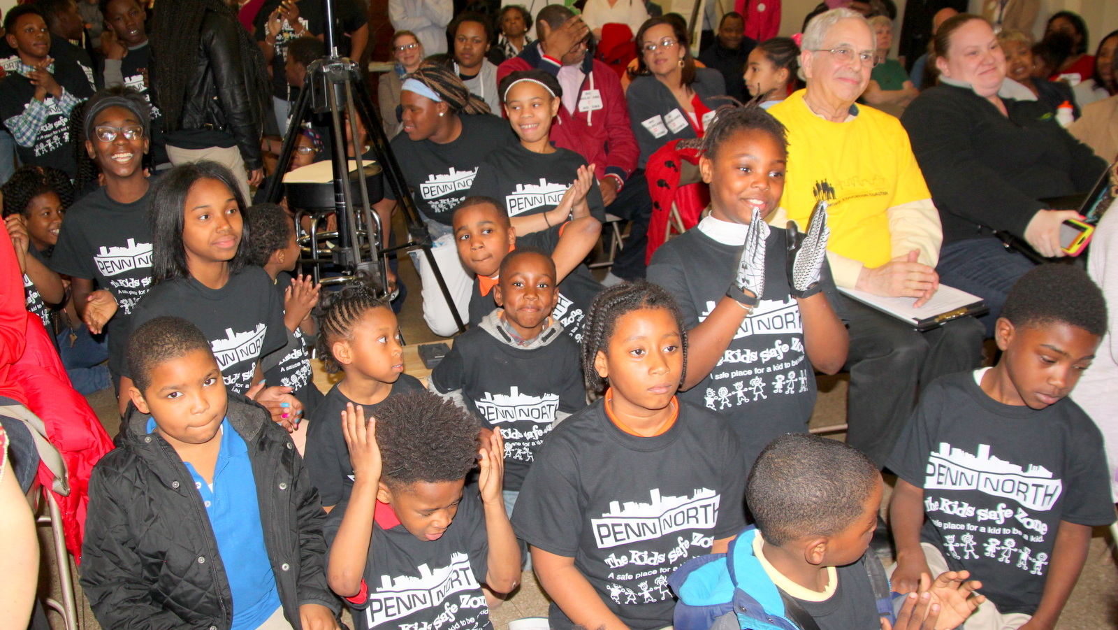 Children from the Penn-North Kids Safe Zone in the audience at Taxpayers' Night. (Fern Shen)