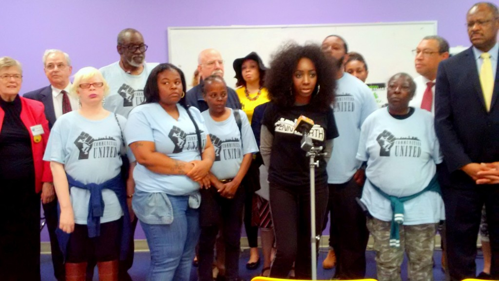 ericka alston and members of Communities United in Sandtown