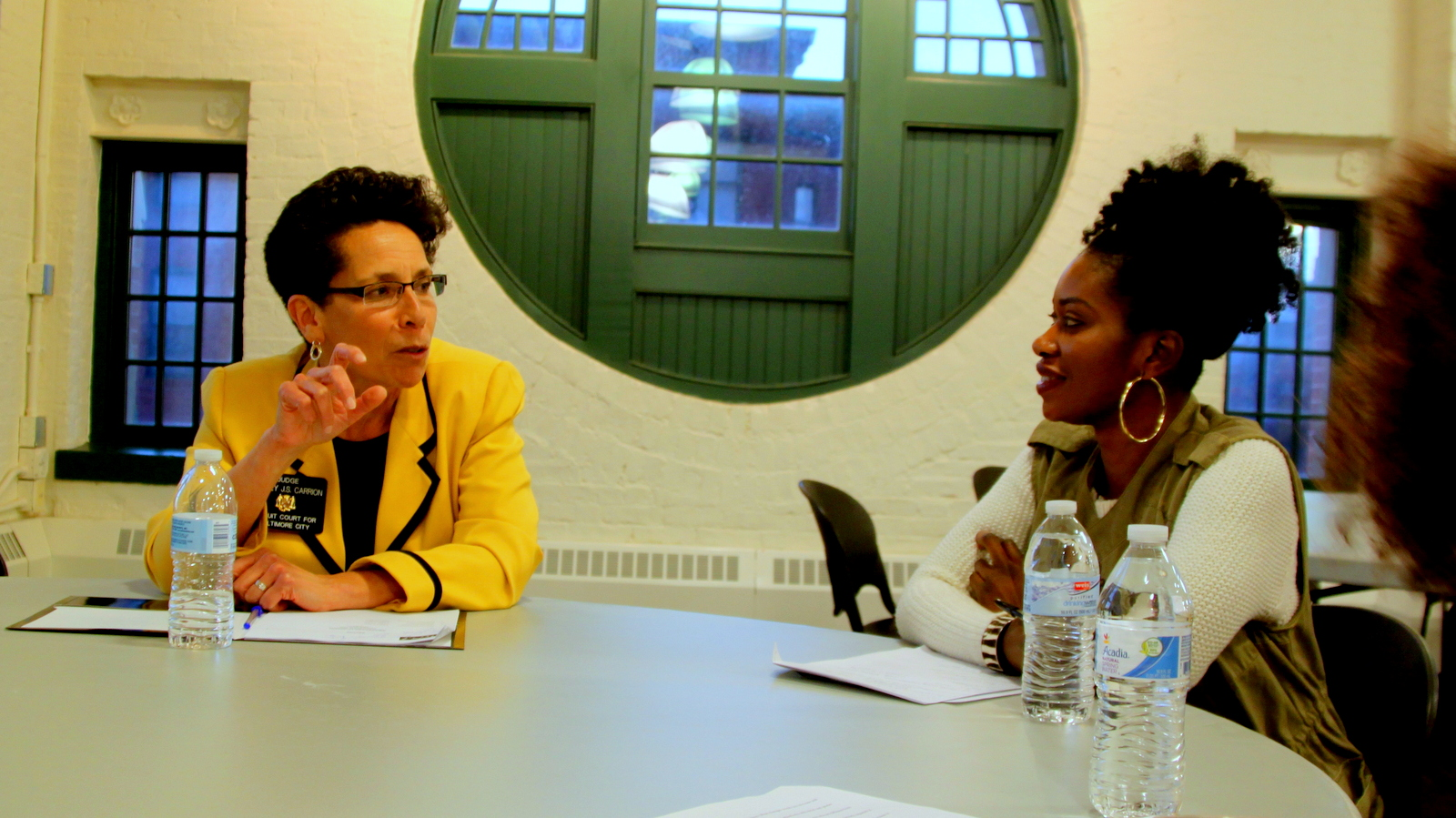 Judge Audrey J.S. Carrion at the Black Girls Vote Judicial Round-table Discussion. (Fern Shen)