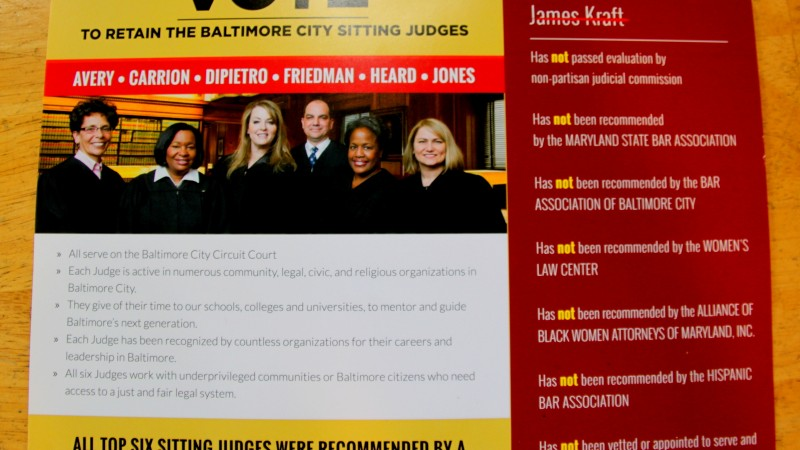 A mailer sent by the 2016 Baltimore city