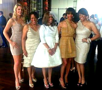 Lobbyist Lisa Harris Jones (center) poses with state Sen. Catherine Pugh and Mayor Stephanie Rawling-Blake at the 2013 wedding during the RECon convention. Sen. Pugh, who won the Democratic primary for mayor last week, is not scheduled to attend the RECon exhibit this year. (Brew file photo, 2013)