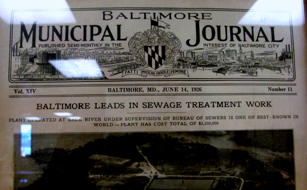Baltimore lauds its Back River treatment plant in 1926, when its sewer system was nearly brand new. (Department of Public Works)