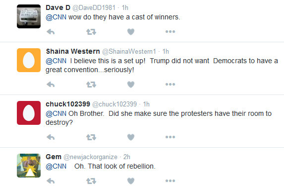 Some of the reaction on Twitter to Rawlings-Blake's near-miss with the gavel. (Twitter)