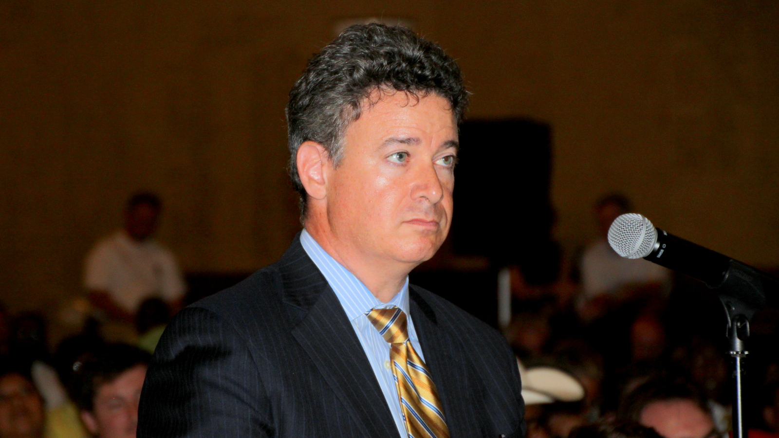 Jon Laria, the attorney for Sagamore Development. (Fern Shen)