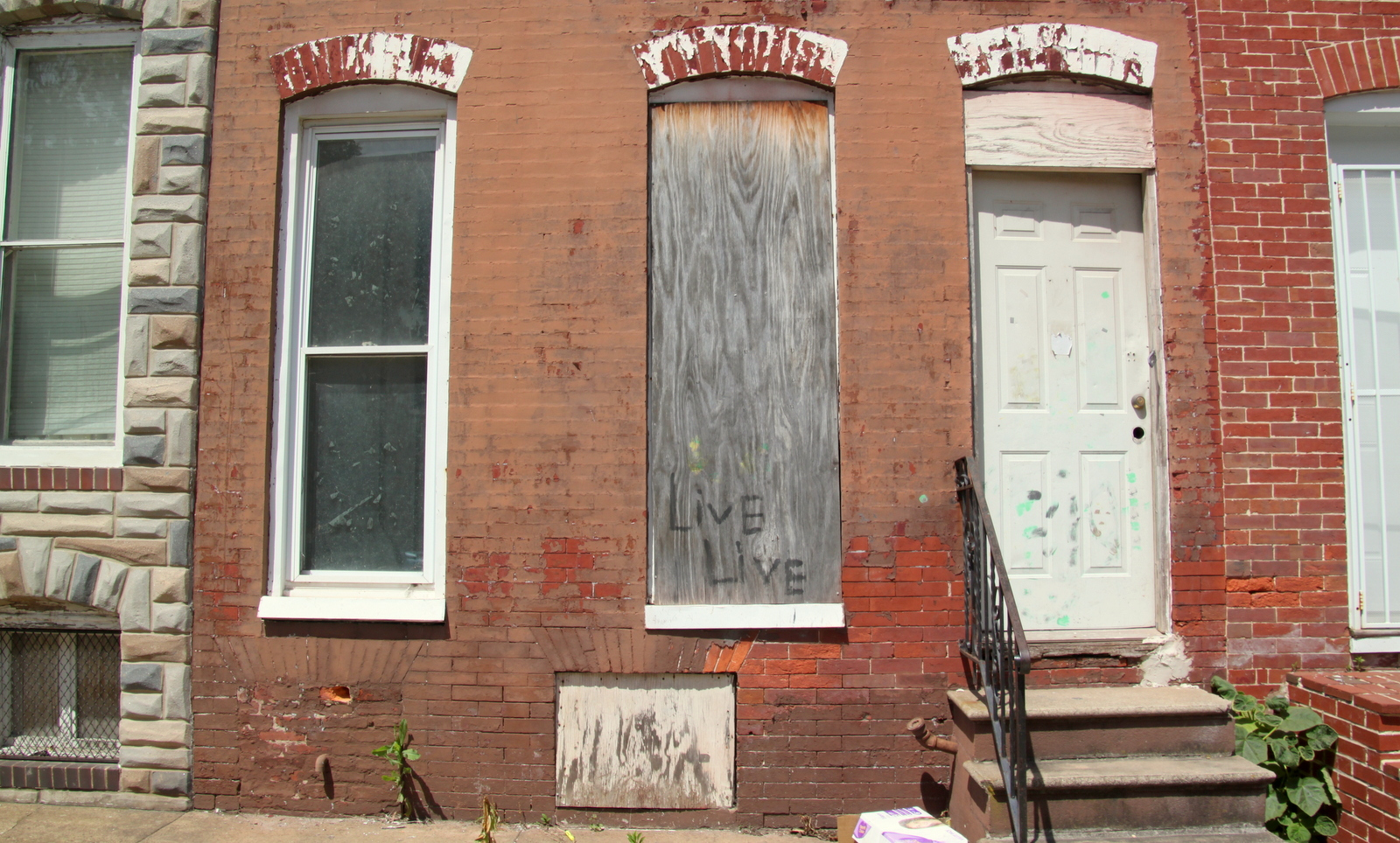 The 300-block of North Stricker Street in Southwest Baltimore. (Fern Shen)
