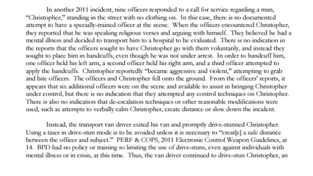 DOJ Christopher page 82 Justice Department Investigation of the Baltimore Police Department