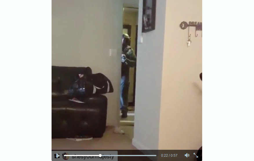 From a video Korryn Gaines posted sometime during the Monday standoff with Baltimore County police.