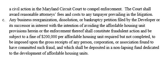 Affordable Workforce Housing amendment proposed by PORT3, BUILD and Build Up Baltimore. Page 2. (Public Justice Center)