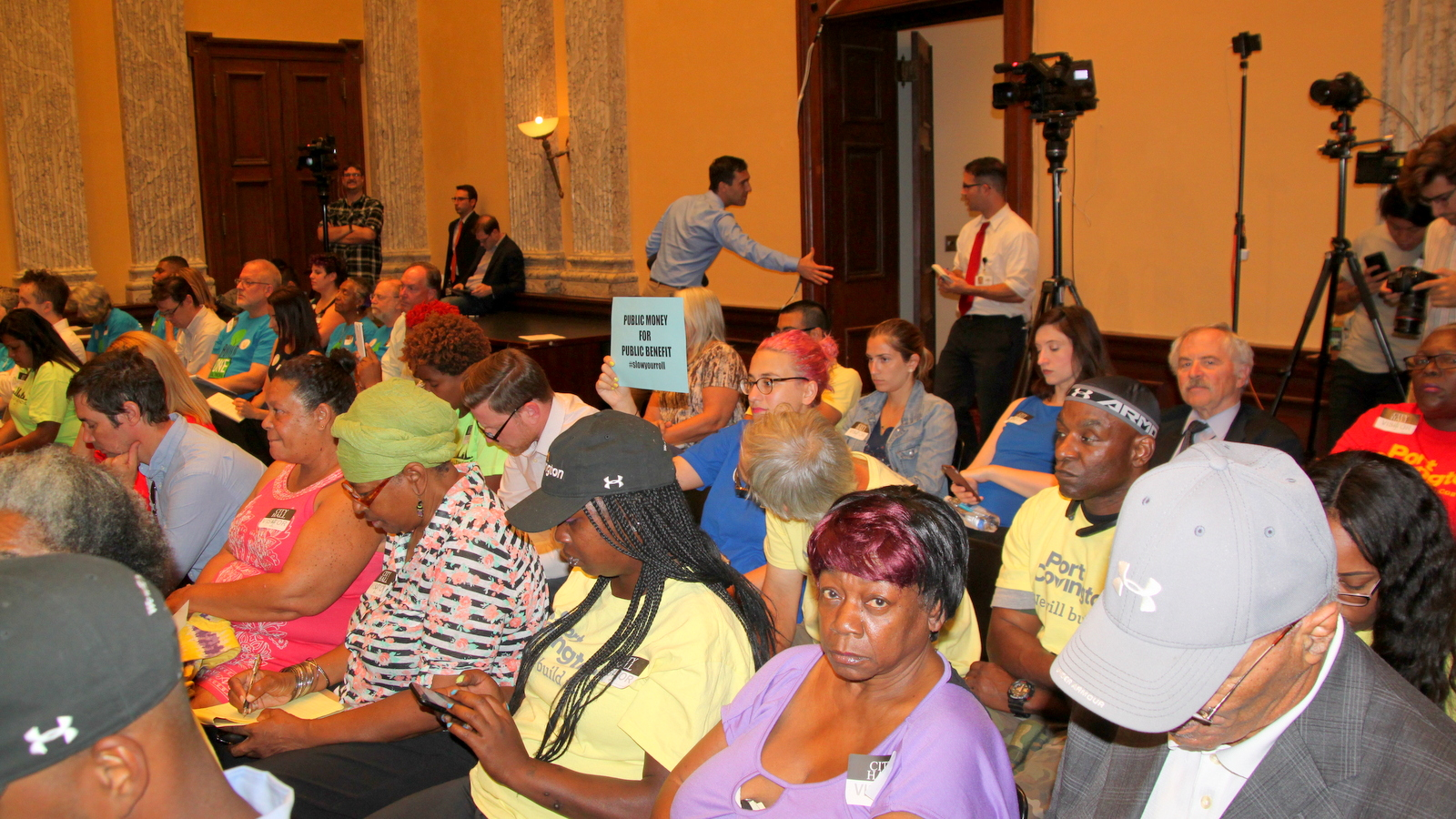 The audience at a City Council work session on Port Covington. (Fern Shen