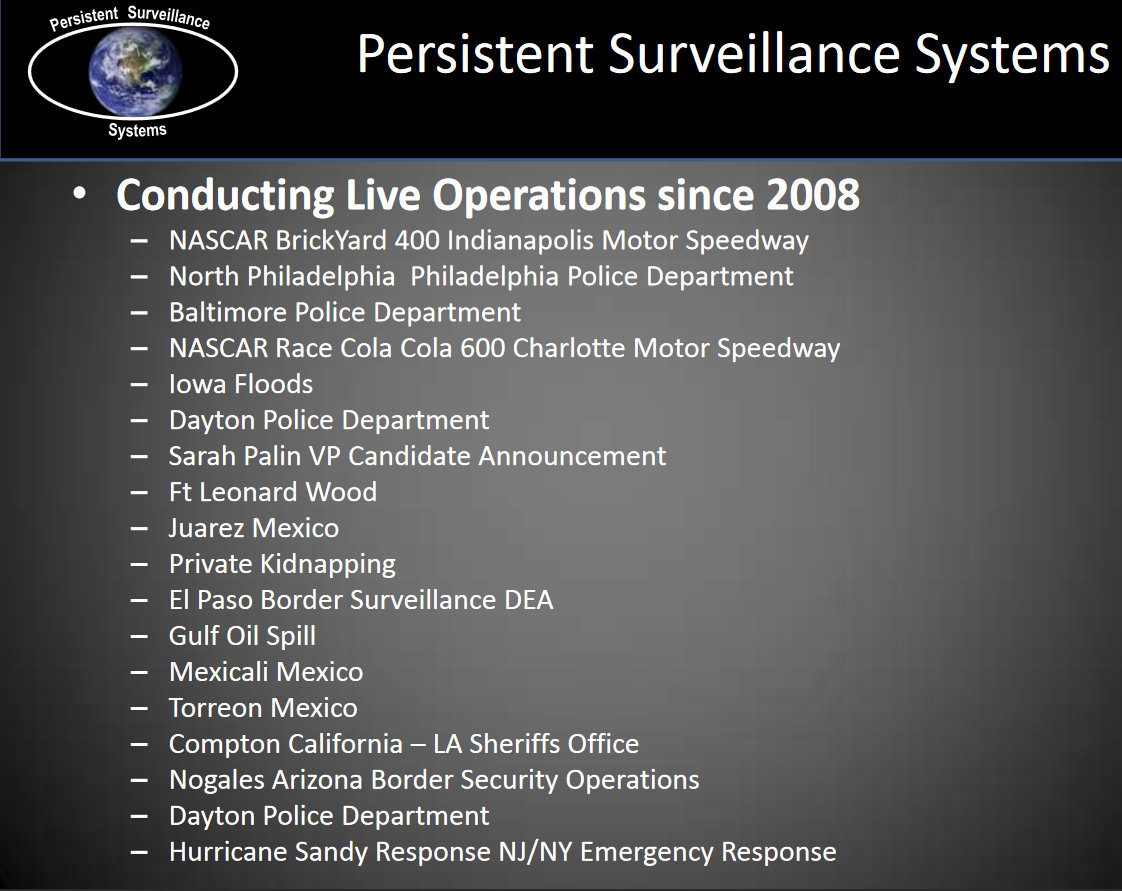 From a January 2014 presentation by Persistent Surveillance Systems. (info.publicintelligence.net)