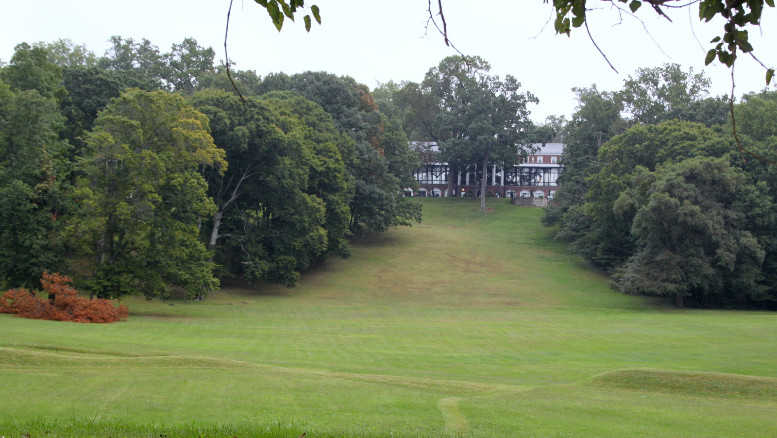 Viewed from Falls Road, the Baltimore Country Club property proposed for rezoning. (Fern Shen)