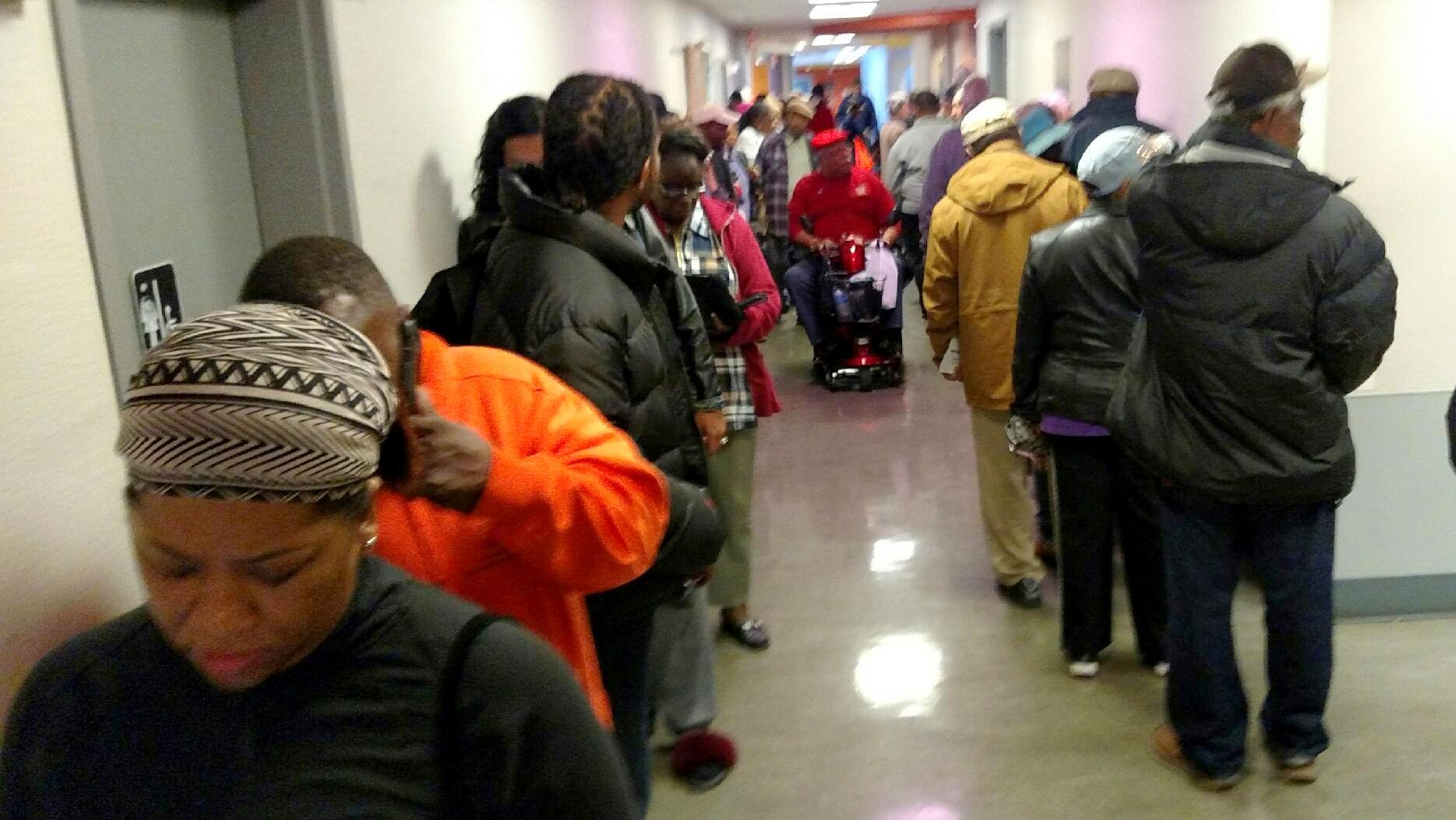 As with the primary, early voting in Baltimore for the General Election appears heavy. (Francine Halvorsen)
