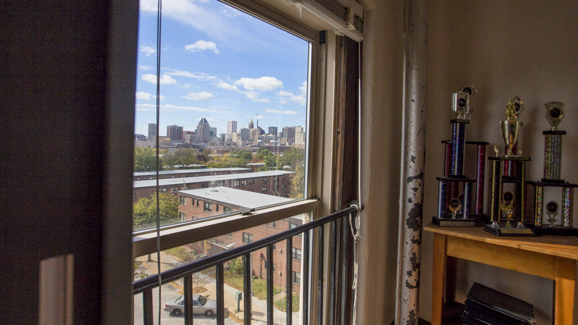 View of Baltimore from the music room at the Institute of Notre Dame. (Jennifer Bishop)