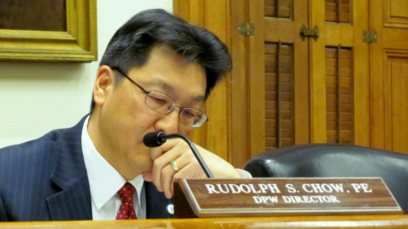 Rudy Chow had been chief of the city's water bureau before he was named DPW director in 2014. (Mark Reutter)