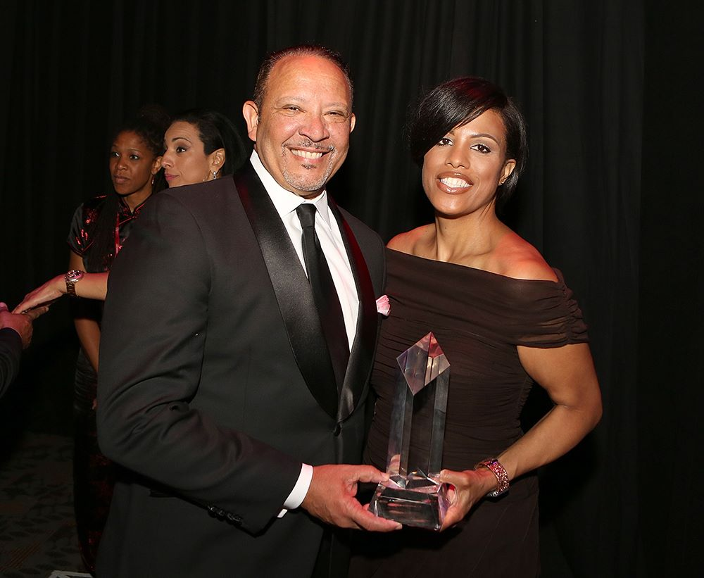 In August, Mayor Rawlings-Blake's campaign committee wrote checks for $6,650 to an Owings Mills video company and a D.C. model management agency on the same day that she received the Whitney M. Young Jr. award from the National Urban League. Here she poses with Urban League president and former New Orleans mayor Marc Morial at the Baltimore awards gala. (Facebook)