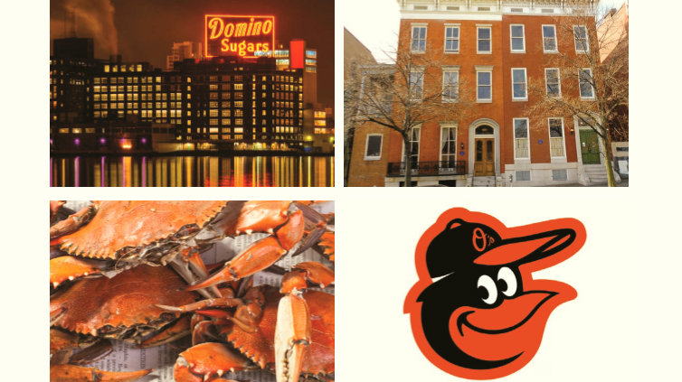 The orange theme in Baltimore's neighborhoods and icons. (Baltimore Gateway Signage Proposal, Ashton Design)