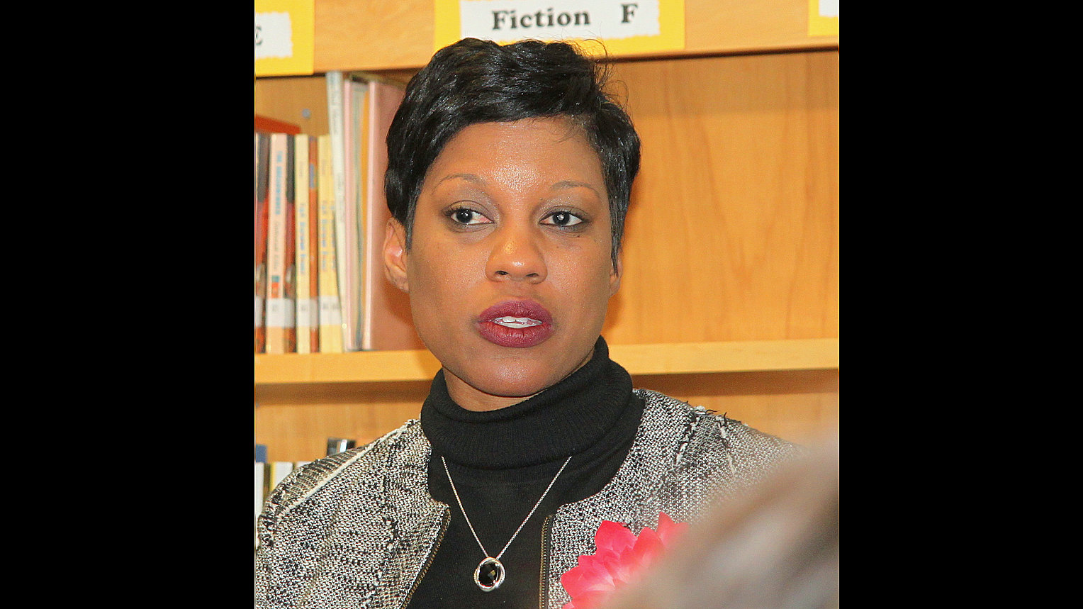 Tisha Edwards when she was Baltimore School's interim CEO in 2014. (Fern Shen)