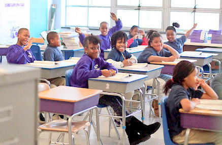 A class at City Springs Elementary School. (Oliver Hulland)