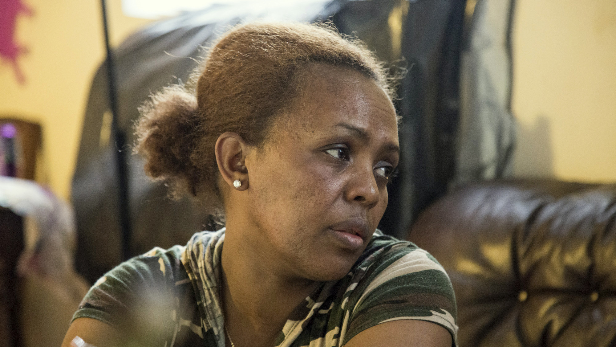 Zaid Degol fled war-torn Eritrea and hopes for a better life for her three boys in Baltimore. (Jennifer Bishop)
