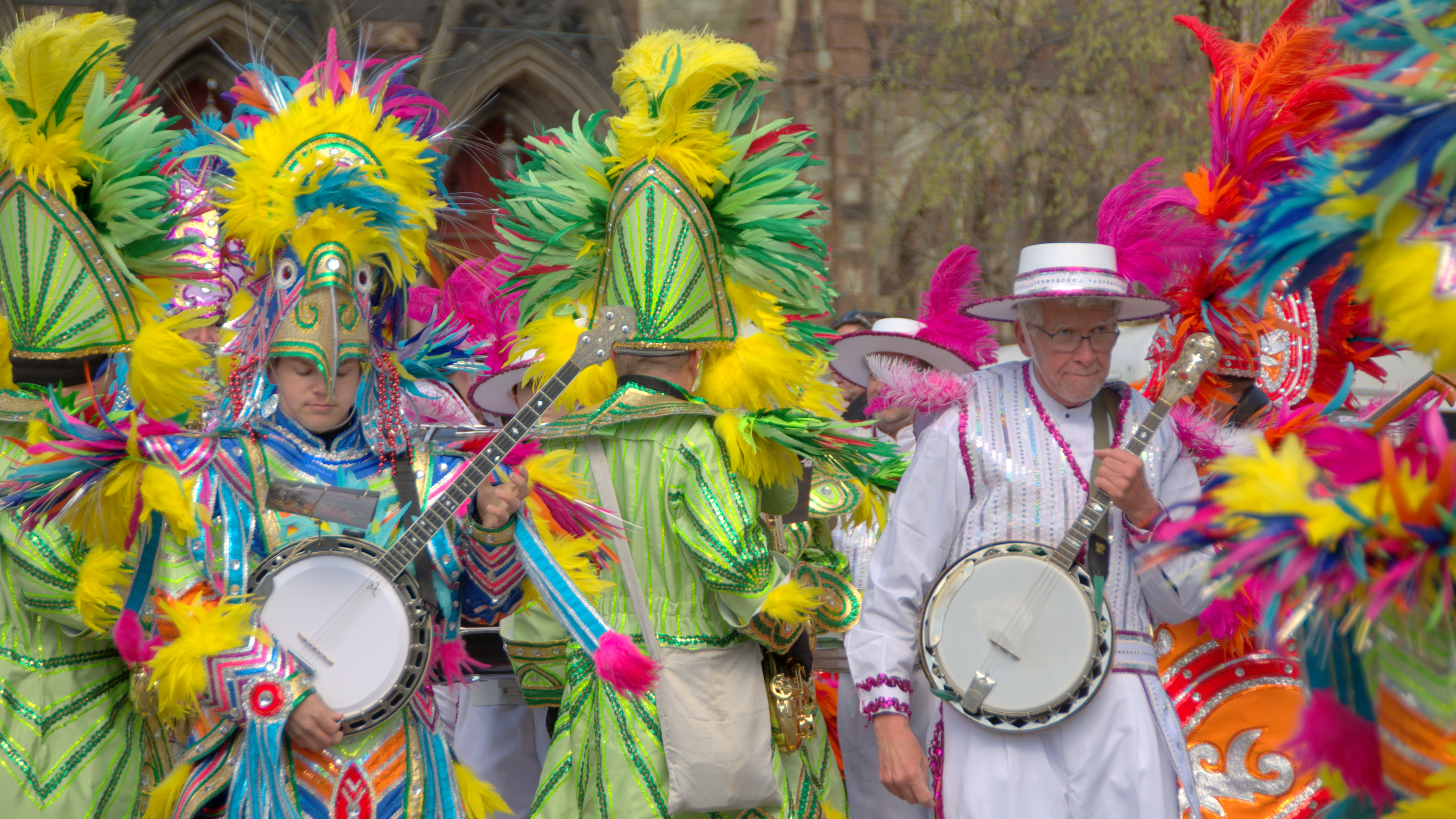Banjos and beautiful colors at yesterday's St. Patrick's Day Parade in Baltimore. (Chris Grant)