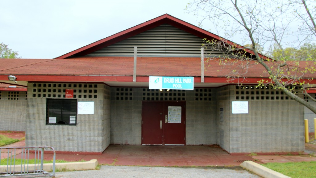 Plans call for the current bath house, built in 1970, to be demolished. (Fern Shen)