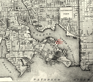 1906 map of baltimore harbor