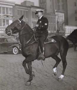 A Baltimore mounted police officer circa the 1930s. (baltimorecitypolicehistory.com)