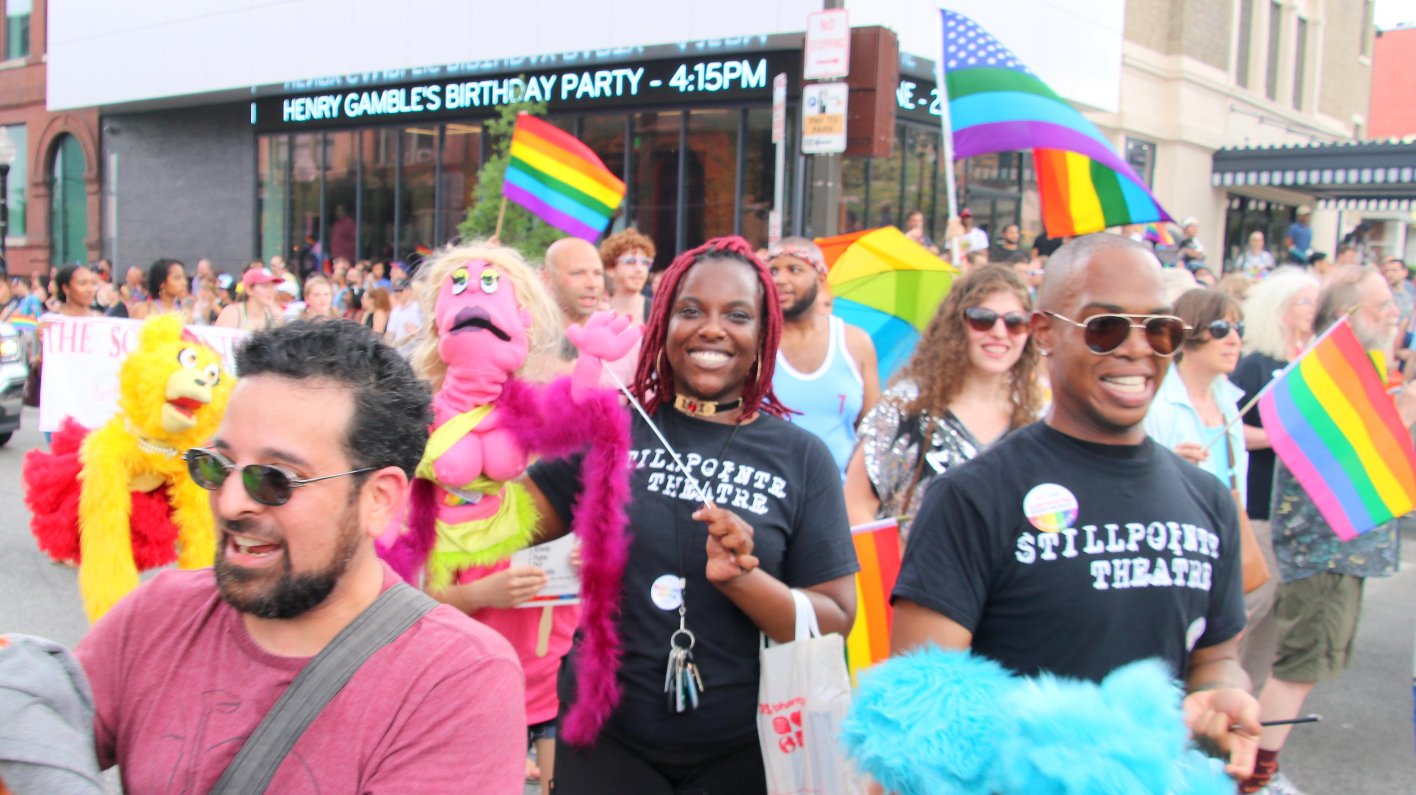 Pride puppets. (Louis Krauss)