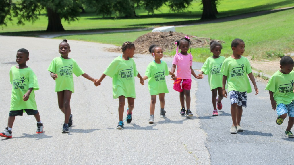 At Camp St. Vincent, children ages 5-14 get to spend the day in Patterson Park. (Louis Krauss)