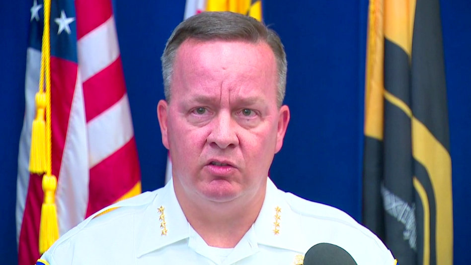 Baltimore Police Commissioner Kevin Davis, discussing body camera footage showing officer placing drugs in a trash-strewn lot. (Fox45)