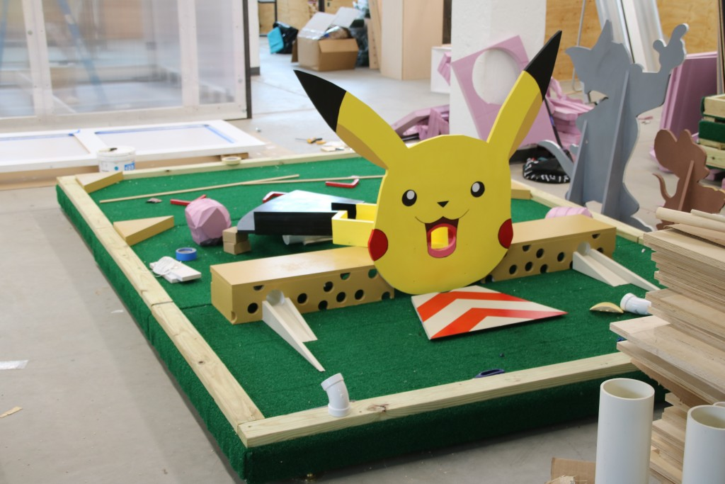 Preparing the Pikachu hole. (Louis Krauss)