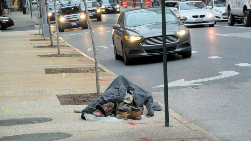 In December, on Calvert Street near the Baltimore Sun building. (Fern Shen)