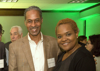Councilman Robert Stokes and his aide, Kathy Christian, attended the grand reopening of the Holiday Inn Inner Harbor in early June. (Daily Record)