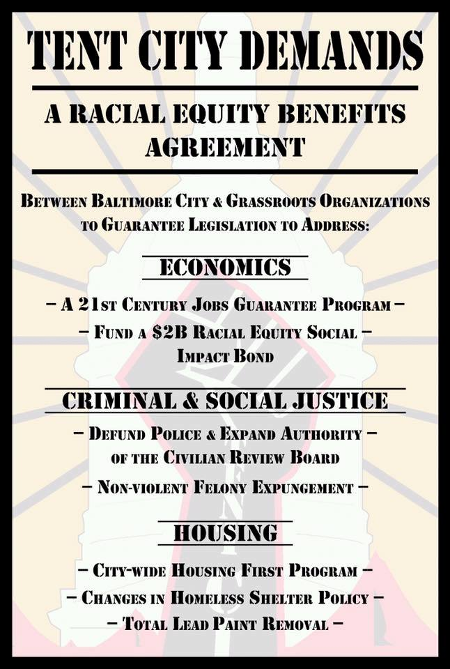 Lawence Brown, of BaltimoreBloc, posted this on social media today. (Facebook)
