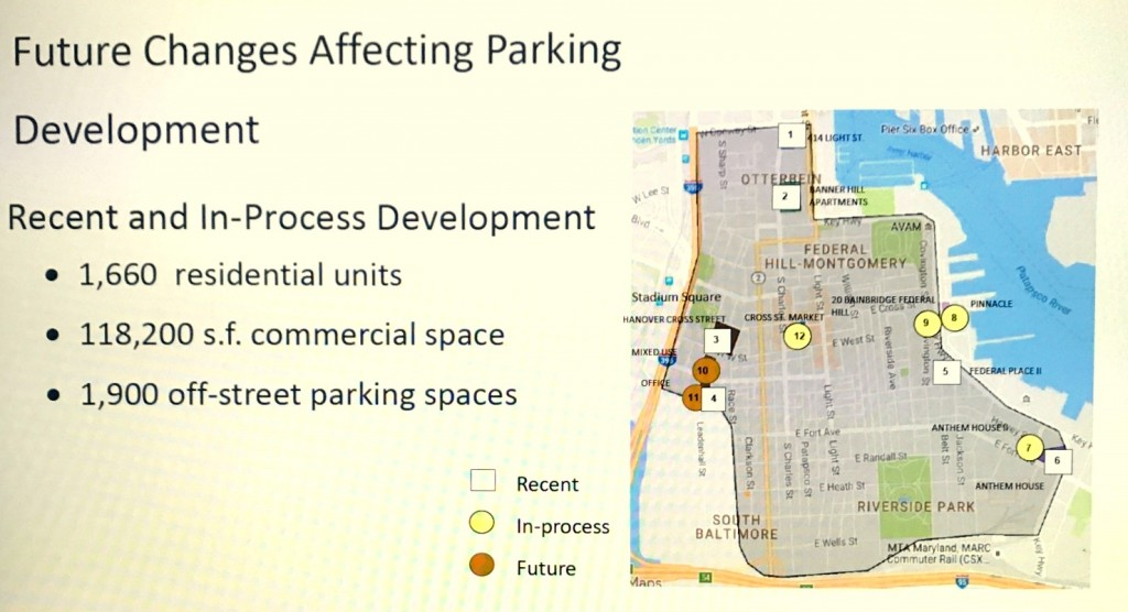 More than 1,500 residential units are slated for South Baltimore. The 1,900 off-street parking spaces will not cover the total number of vehicles introduced by the new residents. (South Baltimore Gateway Study)