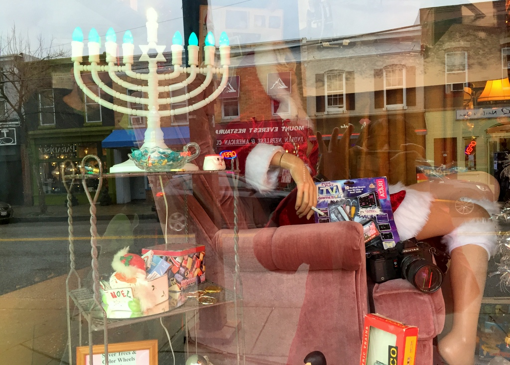 The Hampden Junque window display always gets the seasonal zeitgeist right. (Tina Shen)