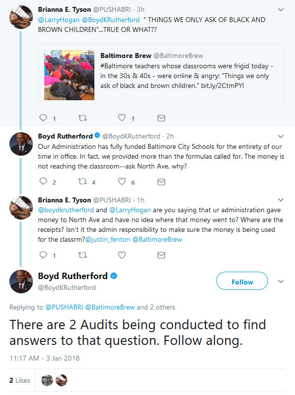 Boyd Rutherford responds to critics on Twitter.