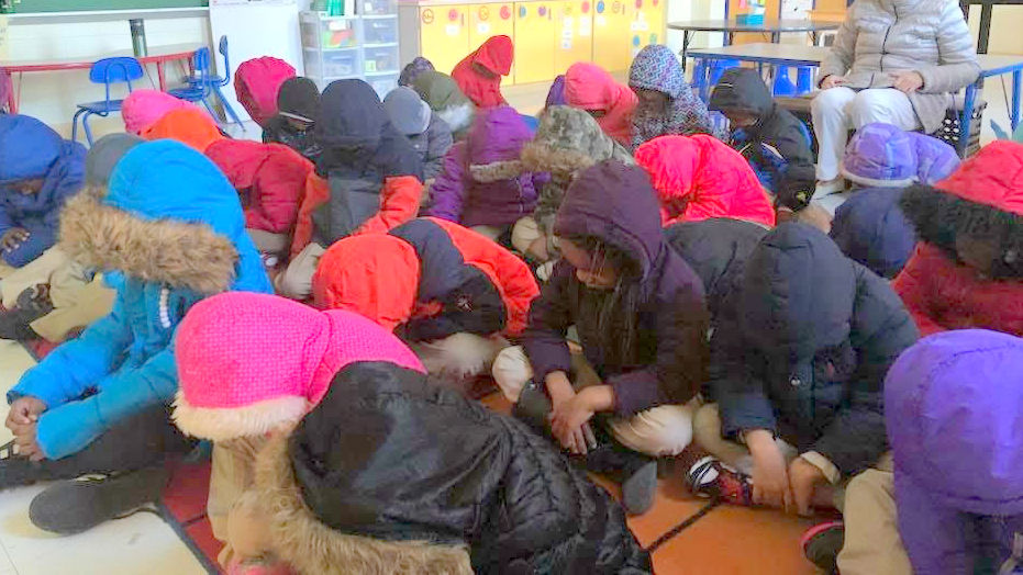 One of the photos of cold classrooms Baltimore teachers were posting on social media today.